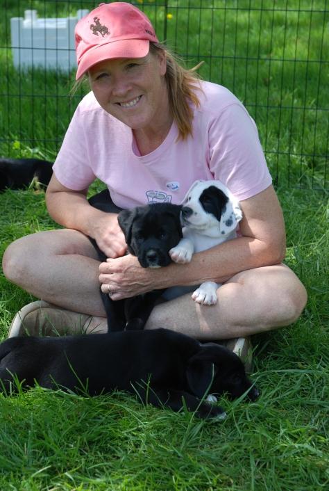 Cara and pups better