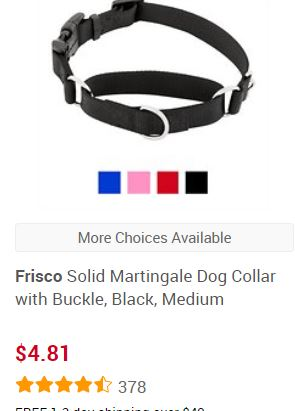 martingale collar from Chewy