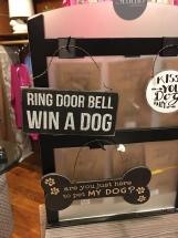 Ring Door Bell Win a Dog